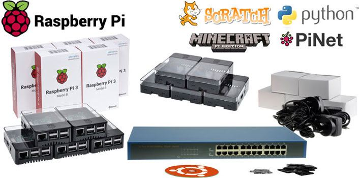 Raspberry Pi 3 Model B PiNet Starter Bundle