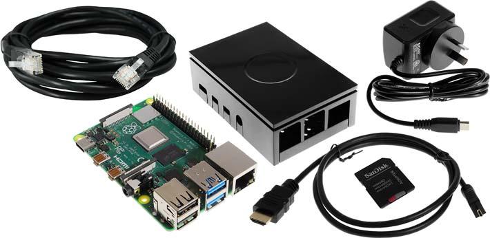 Raspberry Pi 4 Model B Starter Bundle - 1 GB