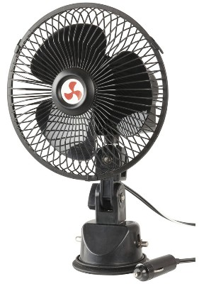 12VDC Oscillating Fan for Caravan with Suction Mount Bracket