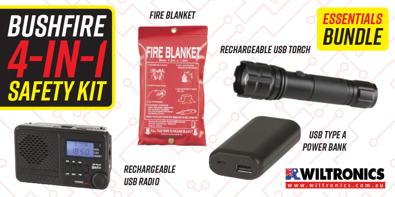 Bushfire Survival Kit - Electronic Essentials Pack