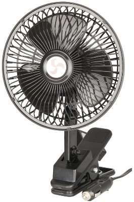 6 inch Oscillating Fan 12V with G Clamp