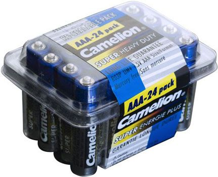 AAA Batteries 24 Pack Super Heavy Duty Camelion