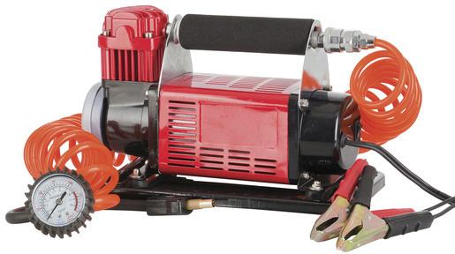 Photo of a 12VDC high-flow air compressor that fills 72 litres per minute.
