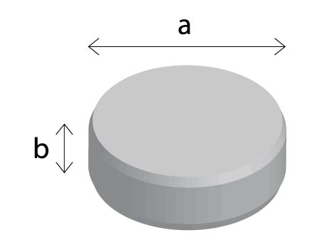 Dimension illustration of a lithium coin cell battery 3V.
