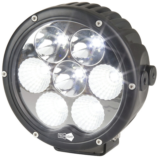 Photo of a 6300 lumen 6.5 inch solid LED driving light.