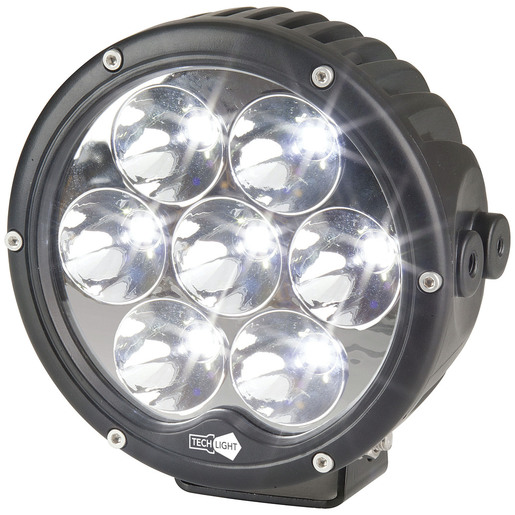 Photo of a 6300 lumen 6.5 inch solid LED driving spotlight.