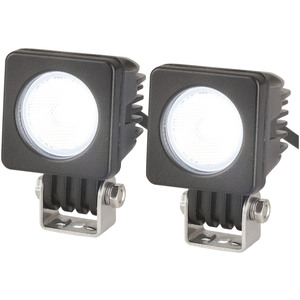 Photo of a pair of 10W cree 720 lumens waterproof mini flood lights.