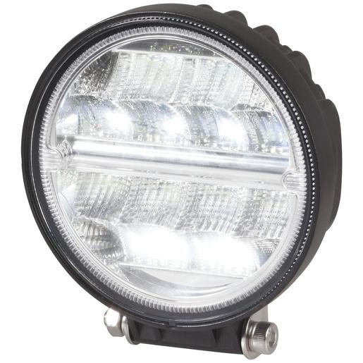 Photo of a 5 inch 2272 lumen round LED vehicle floodlight.