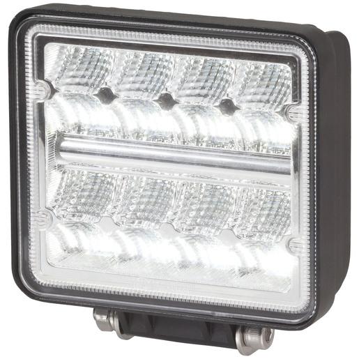 Photo of a 5 inch 2272 lumen square LED vehicle floodlight.