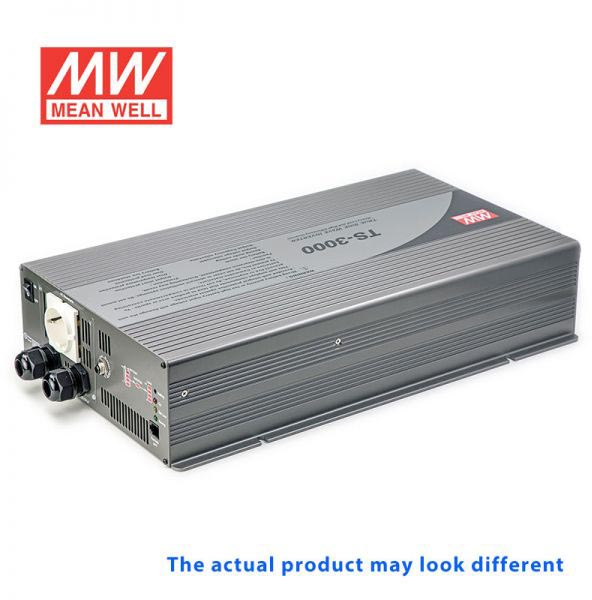 Photo of a Mean Well DC-AC true sinewave inverter.