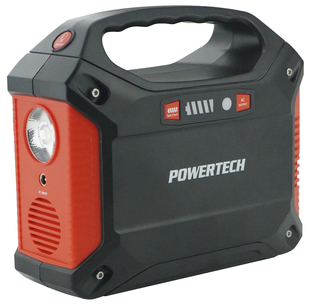 Photo of a multi-function 42Ah portable power centre.