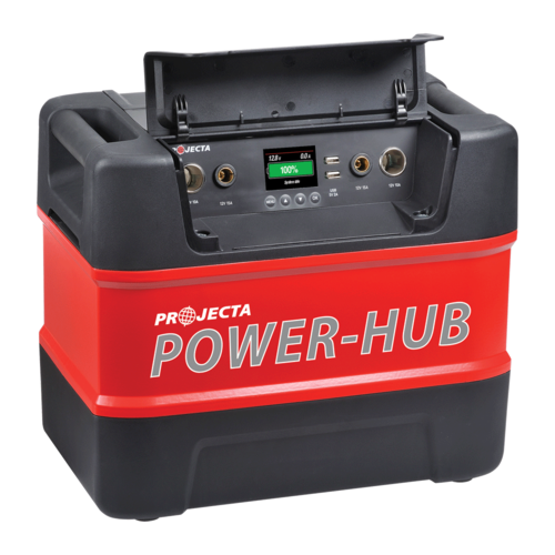 Photo of a 12V portable power hub.