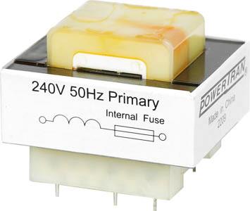 Photo of a 7VA 9V + 9V PCB mount transformer.