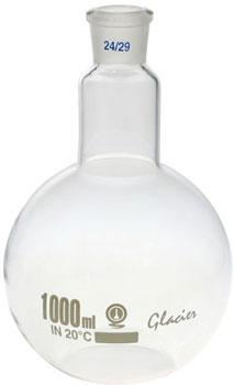 1000ml Boiling Flask Flat Bottom Short Neck Borosilicate Glass 24/29