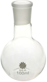 100ml Boiling Flask Flat Bottom Short Neck Borosilicate Glass 24/29