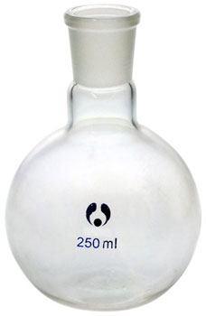 250ml Boiling Flask Flat Bottom Short Neck Borosilicate Glass 24/29