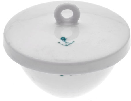 18ml Crucible Low Form Porcelain with Lid