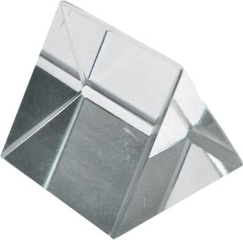 glass prism equilateral triangular 38mm