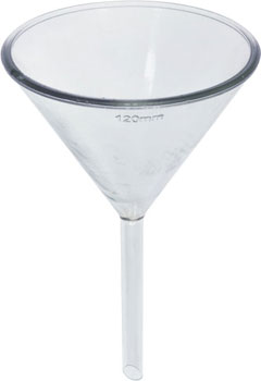 glass filter funnel 120mm 60 deg slope