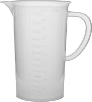 Polypropylene Measuring Jug 1000ml Low Form