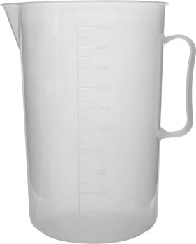 Polypropylene Measuring Jug 2000ml Low Form