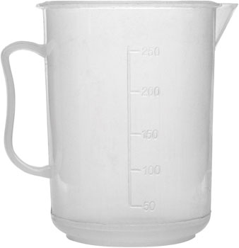 Polypropylene Measuring Jug 250ml Low Form