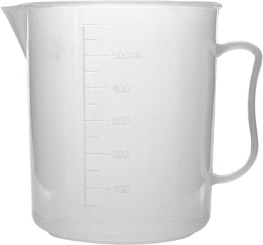 Polypropylene Measuring Jug 500ml Low Form