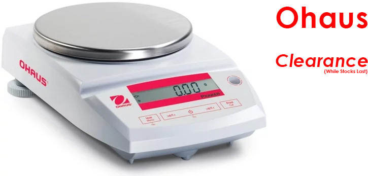 Photo of an OHAUS PA512C Pioneer Balance that is on clearance sale while stocks last.