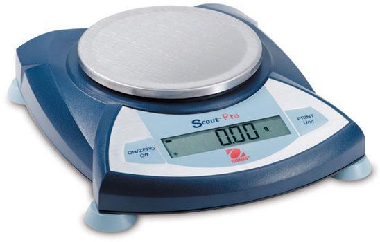 OHAUS Scout Pro Scale Balance Round Pan