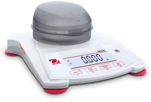 Ohaus Scout S P X 223 - 220 by 0.001 g with Draftshield