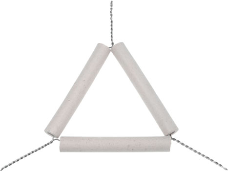 Pipe Clay Triangle 75mm