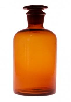 500ml Reagent Bottle Amber Glass Narrow Mouth Glass