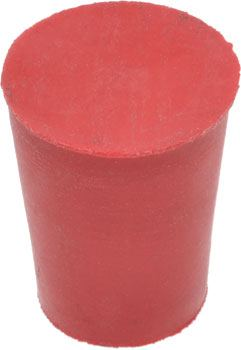 Solid Rubber Stopper #0 - Chemical Resistant