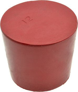 Solid Rubber Stopper #12 - Chemical Resistant