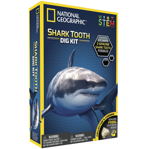 Photo of a shark tooth dig science kit.