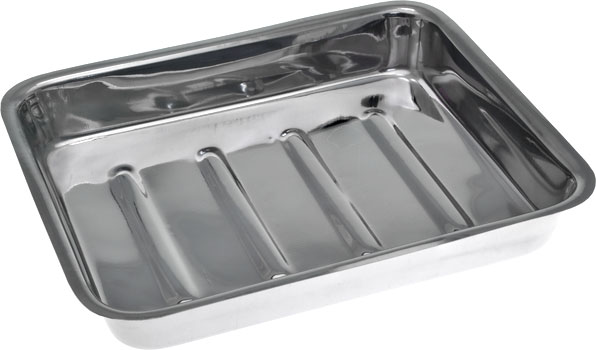 Stainless Steel Instrument Tray with Lid 300mm No Lid