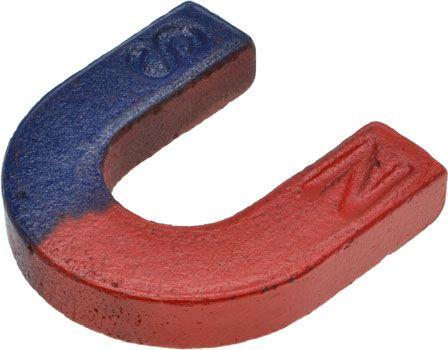U-Shaped Magnet with N-S Markings