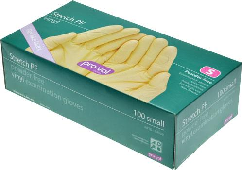 Pro-Val Stretch Powder-Free Vinyl Gloves Small - Box of 100