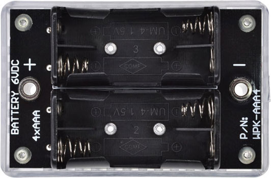 Battery 6VDC 4xAAA. P/N: WPK-AAA4