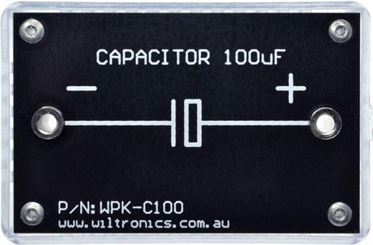 Capacitor 100µF. P/N: WPK-C100. www.wiltronics.com.au