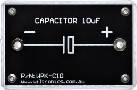 Capacitor 10µF. P/N: WPK-C10. www.wiltronics.com.au
