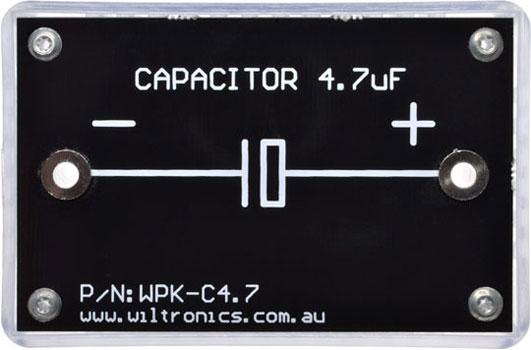 Capacitor 4.7µF. P/N: WPK-C4.7. www.wiltronics.com.au
