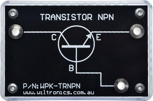 Transistor NPN. P/N: WPK-TRNPN. www.wiltronics.com.au