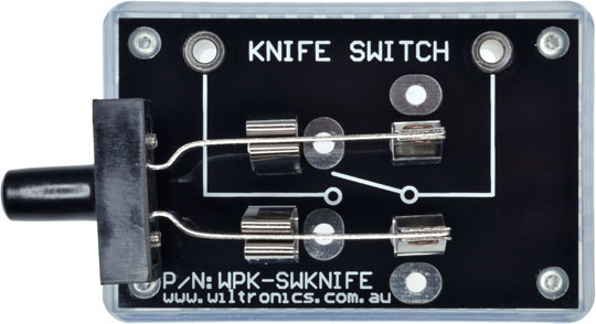 Knife Switch. P/N: WPK-SWKNF. www.wiltronics.com.au