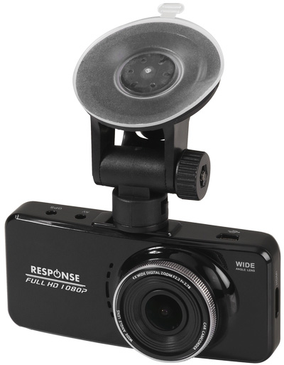Photo of a 1080p GPS dash camera with a 2.7\