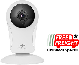 Photo of a Wi-Fi IP camera with infrared LEDs. Free freight Christmas special 2018.