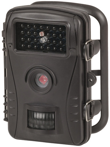 Photo of a 720p outdoor trail camera.