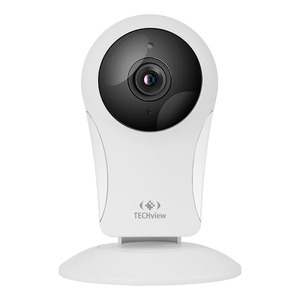 Photo of a 720p Wi-Fi IP camera with infrared LEDs.