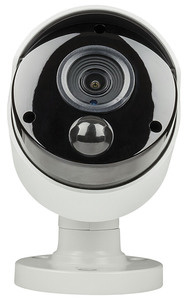Photo of a Concord AHD 5 megapixel PIR bullet camera, taken from the front.