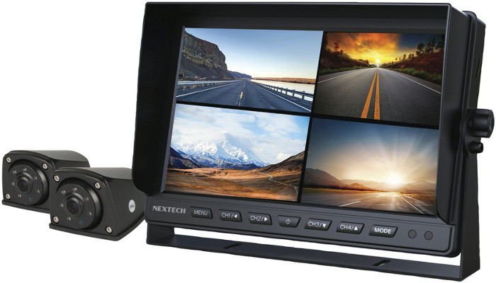 7 Inch 1080p LCD Monitor Kit with Built-In Vehicle DVR + 2 x Cameras